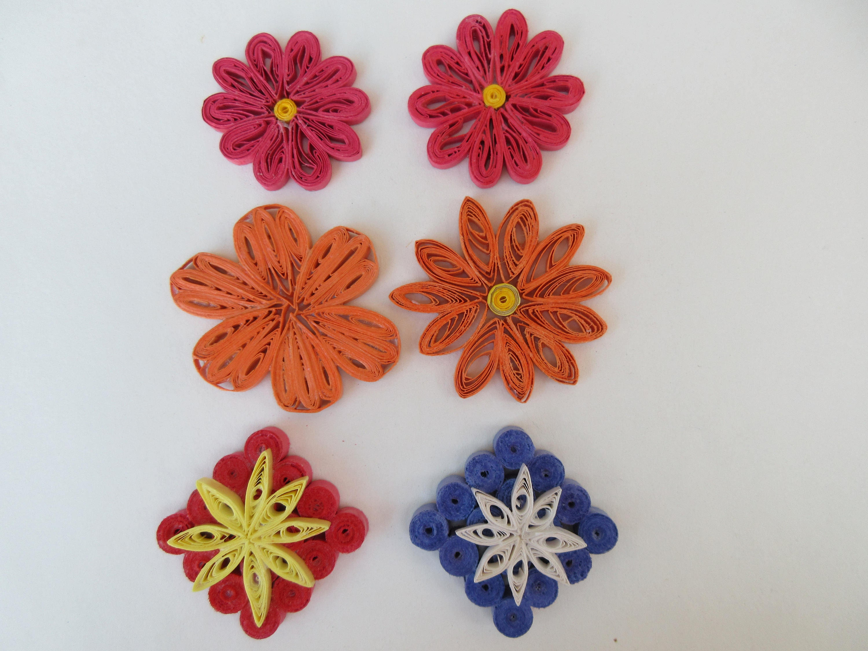 Your Choice Paper Quilled Flower Embellishments Handmade For