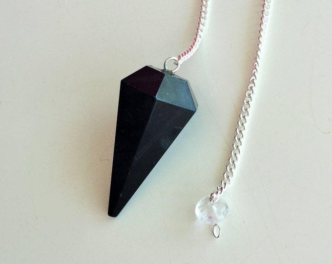 Pendulum, Black Tourmaline Pendulum Great Protection AMULET / Powerful Stone