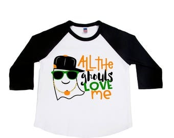 All the Ghouls Love Me - Halloween Shirts - Boys' Shirts - Trick or Treat - Pumpkin Shirts - Toddler Boy - Funny Halloween - Ghouls Shirt