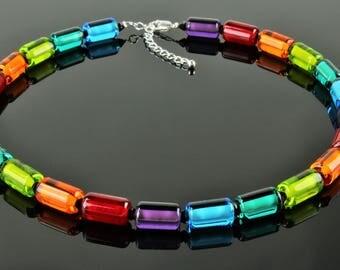 "Chain borosilicate glass ""Rainbow"""