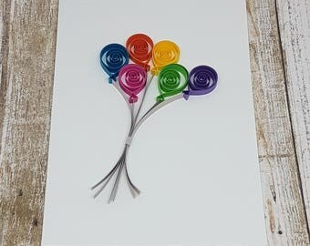 Paper Quilled Balloon Card - 5x7