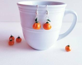 Polymer Earrings - Pumpkin Earrings - Fall Earrings - Autumn Jewelry - Polymer Jewelry - Fall Jewelry - Polymer Clay Jewelry