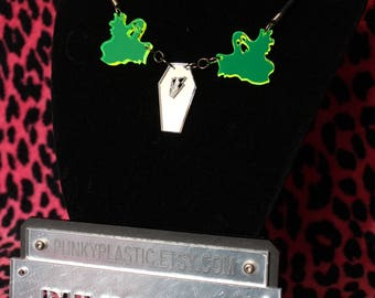 Coffin Ghost necklace