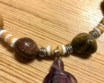 Handmade amethyst turtle lover inspired necklace!!!