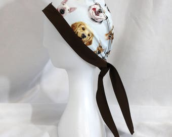 Happy Dogs Surgical Scrub Cap Dental Chemo Hat