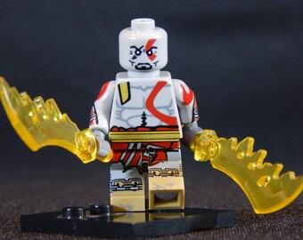Kratos Inspired Minifigure God of War (LEGO Compatible)