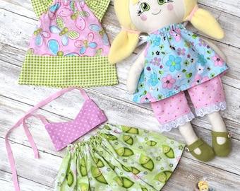 "18"" Soft Doll - Handmade Dress up Doll Set - Doll Clothes - Pretend Play"