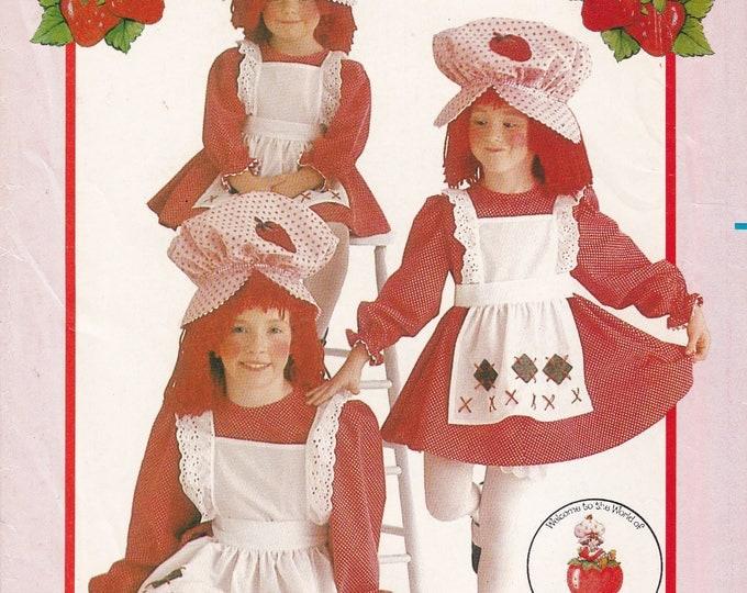 FREE US SHIP Girls Strawberry Shortcake Costume Butterick 6139 Vintage Sewing Pattern Size 4 5 6 Factory Folded Rare!! 1983