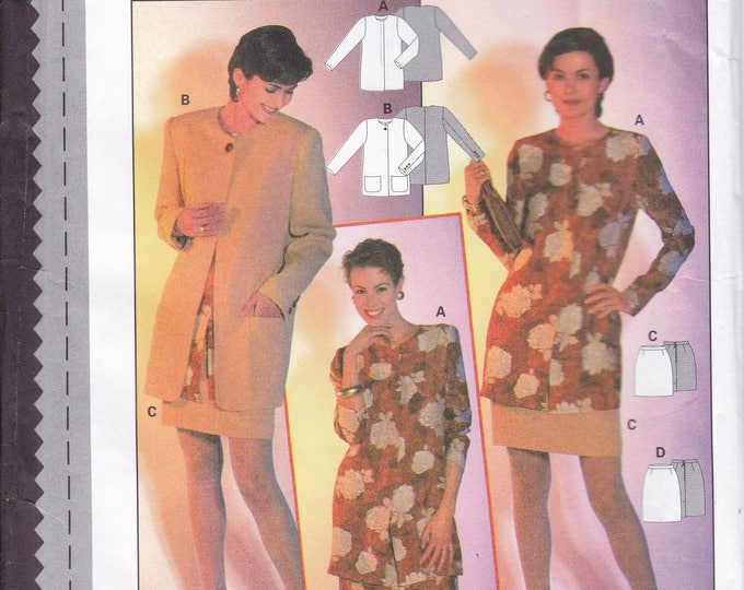FREE US SHIP Burda 3645 Sewing Pattern Top Jacket Skirt Size  8 10 12 14 16 18 Bust 31 32 34 36 38 40 Uncut Factory Folded
