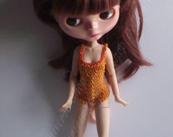 Handmade Orange Swimsuit for Blythe