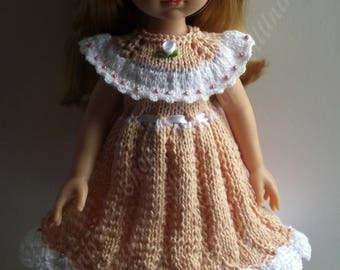 Handknitted outfit for Paola Reina,Effner Little Darling, Corolle Les Cheries 13 dolls