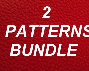 2 patterns bundle, Leather PDF Patterns, Wallet Pattens with zipper, Wallet Patterns for Women, Wallet Pattern PDF, Crossbody Bag Pattern