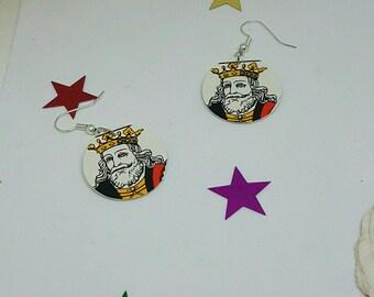 Card King earrings