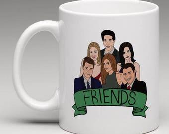 Friends TV Show Mug (Parks and Rec, Seinfeld, Fraiser, 30 Rock, The Office, Community, Arrested Development, Perfect Gift, Present Ideas)