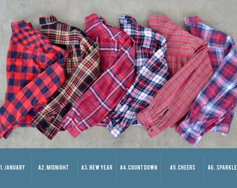 Buy 2 Get Any 1 Free- Oversized Vintage Flannel Shirts NEW STOCK