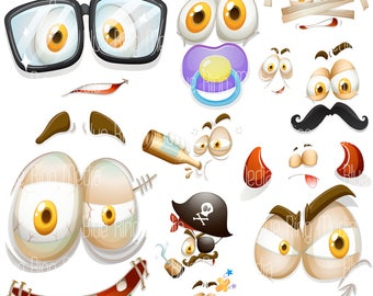 Crazy Expression Pack - Vector EPS