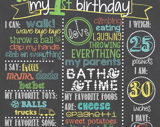 Dinosaur Birthday Chalkboard / Dinosaur First Birthday Chalkboard / Dinosaurs Birthday Chalkboard / Boy First Birthday Chalkboard / Dinosaur