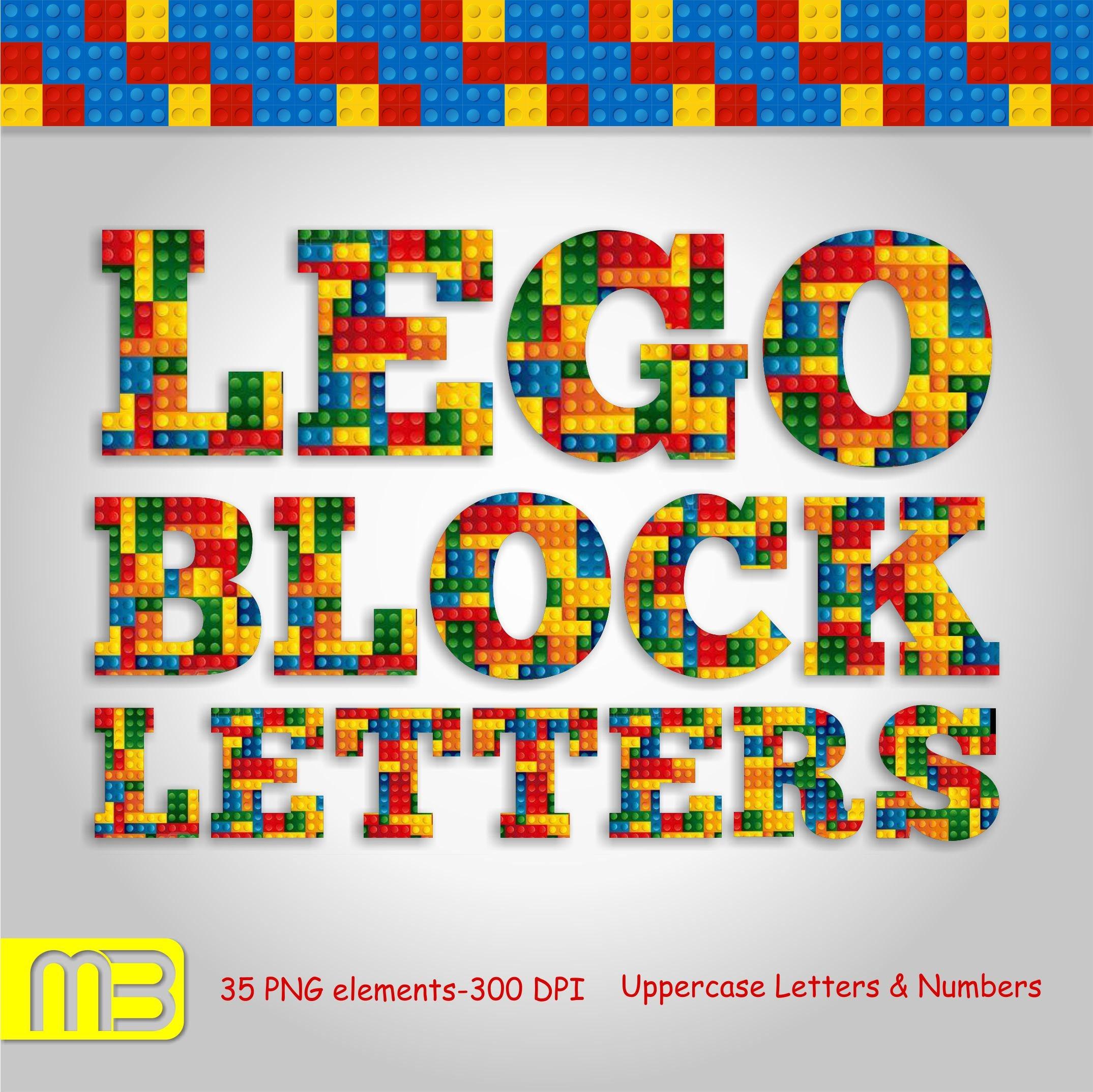 Lego alphabet clip art. Digital clip art can be used as ...