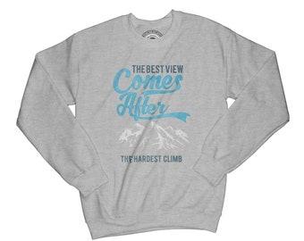 Camping sweatshirt quote sweatshirt with sayings motivation sweatshirt mountains sweatshirt hiking sweatshirt bonfire sweatshirt    AP8