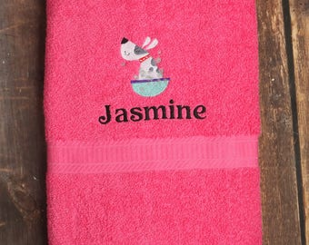 Dog Bath Towel - Dog Towel - Personalized Dog Towel - Custom Pet Towel - Dog Gift - Embroidered Towel - Dog Towel with Name - Custom Dog