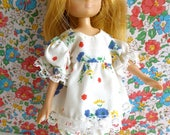 Flowery Pyjamas or PLAY OUTFIT for LOTTIE and other slender 7in/16cm dolls