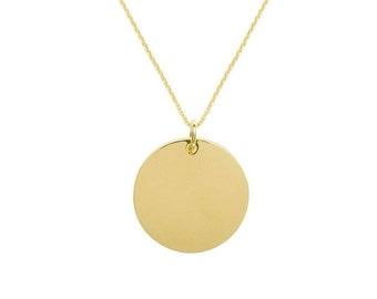 Jade necklace - Beautiful necklace with a large smooth gold medal