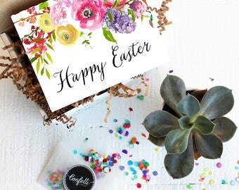 Mini Happy Easter Gift Box- Easter Gift | Thinking of You Gift | Friend Gift | Gift for Mom | Send a Gift | Easter Hostess Gift