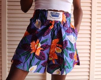 Vintage 90s Floral Shorts