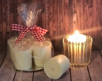 Set of 4 Votive Candles/ Highly Scented Votive  Candles/ Unscented Votive Candles