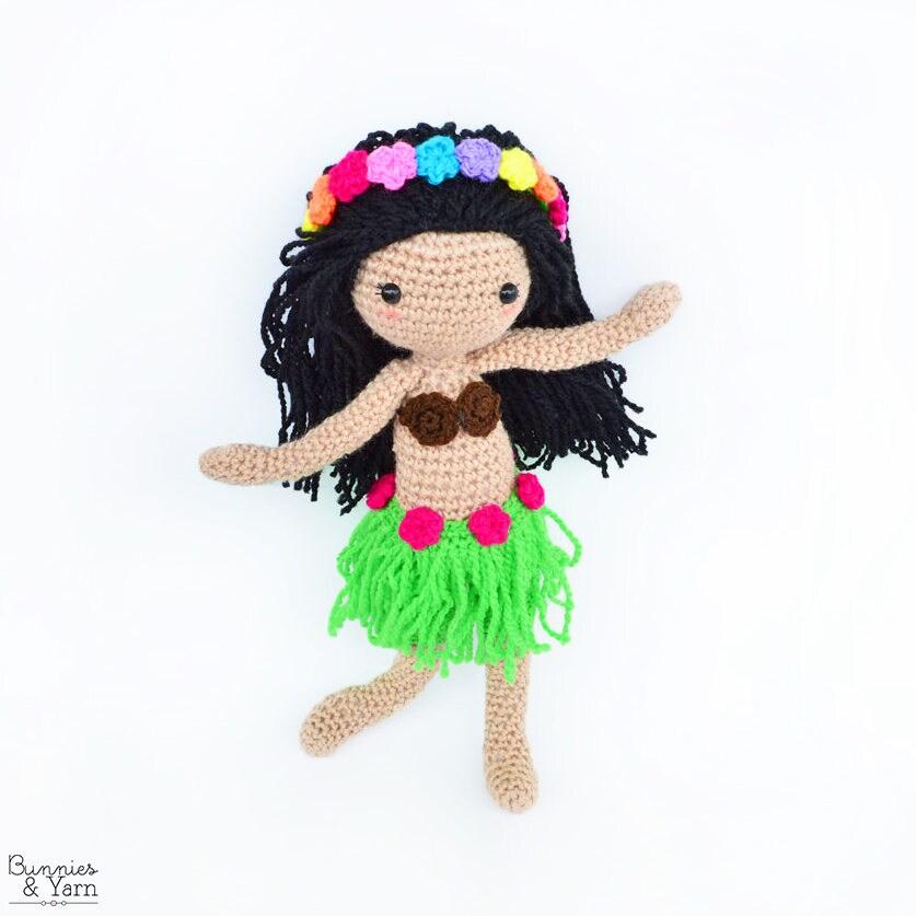 Amigurumi Hawai Doll : Crochet pattern in english hannah the hawaiian doll