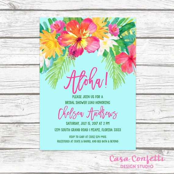 Luau bridal shower invitation tropical bridal shower invitation il570xn filmwisefo