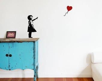 Banksy wandtattoo zebra waschstation wandsticker streetart - Wandtattoo ballon ...