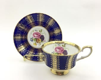 Paragon Cobalt Blue and Gold Tea Cup - Vintage English Tea Cup- Tea Party - Tea Cup Collector - Gifts for Her