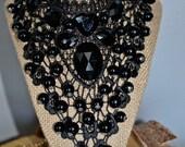 Lace necklace, Lace choker, Women Necklace, Fancy Necklace, Statement Necklace, Bib Necklace