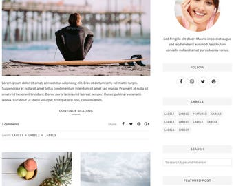 Blogger Template, Blogger Theme, Template Responsive, Minimal, Simple, Grid, Slider, Design, Blogspot - LIVE: www.bit.ly/SimplyAnn