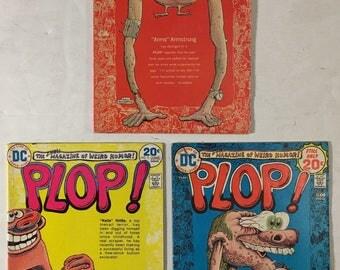 PLOP Weird Humor #s 1, 5, and 8 lot of 3 DC Comic Books - Sergio Aragones, Berni Wrightson, Basil Wolverton - 1973-1974