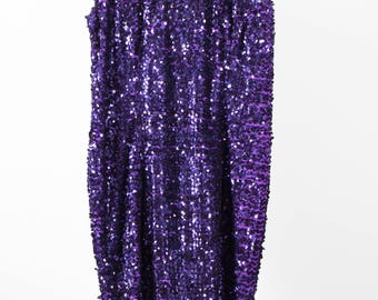 Vintage purple sequin party dress, evening wear, great stretch, boutique clothing, plus size 18