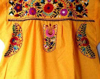 Embroidered mexican dresses cheap