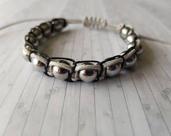 Hematite Shambala Shambhala bracelet | Base Chakra | stone for the mind | Dissolves negativity, overcome compulsions+addictions