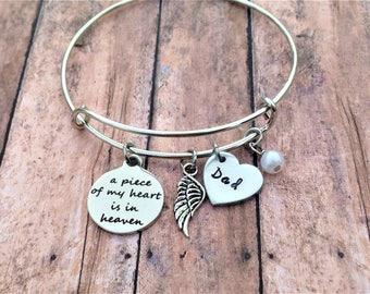 Memorial Bracelet - Memorial Jewelry - Remembrance Jewelry - Sympathy Gift - Mom Memorial Jewelry - Dad Memorial Jewelry - In Memory of