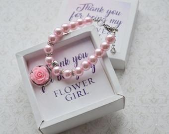 Flower girl gift ideas Wedding gift Flower girl bracelet personalized Flower girl jewelry Wedding bracelet Kids bracelet Childrens bracelet