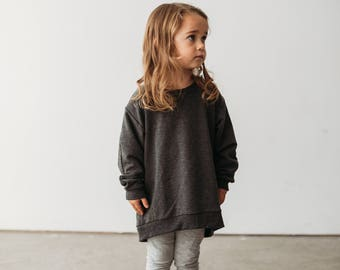 girls sweater, toddler sweater, trendy toddler, pullover sweater, toddler tunic, girls tunic, girls top, toddler girl clothes, monochrome