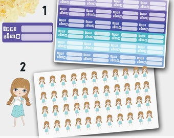 Life Planner Appointment Stickers, Blank Appointment Stickers, Appointment Sticker Set,  Appointment Planner Stickers, Erin Condren