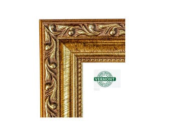 ORNATE Gold Picture Frame, Antique Gold Photo Frame. Gold Ornate 4x6,5x7,9x9,8x10,8.5x11,10x12,12x12,11x14,16x20,17x20,20x24,24x30,24x36