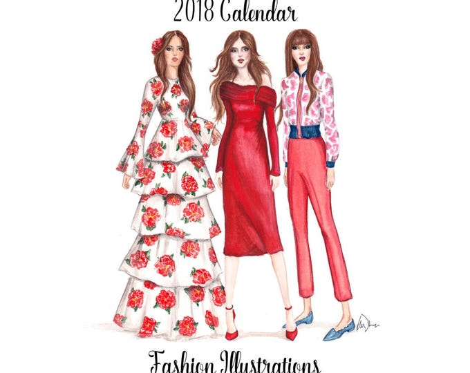 Featured listing image: Fashionista Mini Desktop Calendar