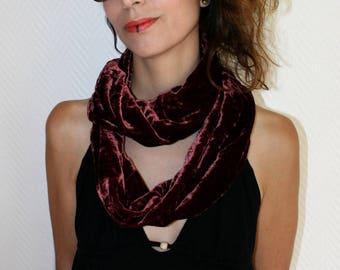 Woman silk velvet Snood