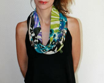 Flower print scarf Snood