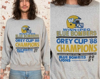 Vintage CFL Grey Cup Sweater / Grey Pullover Sweatshirt / Size M-L