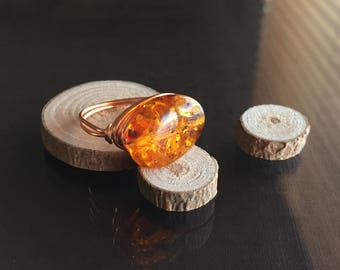Amber Ring - US Size 8.5