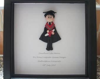 Personalised Graduation Picture/keepsake by Hot Dough Creations